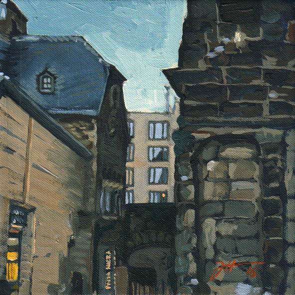 Die blaue Stunde an der Porta
