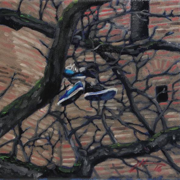 Im Baum gefangen