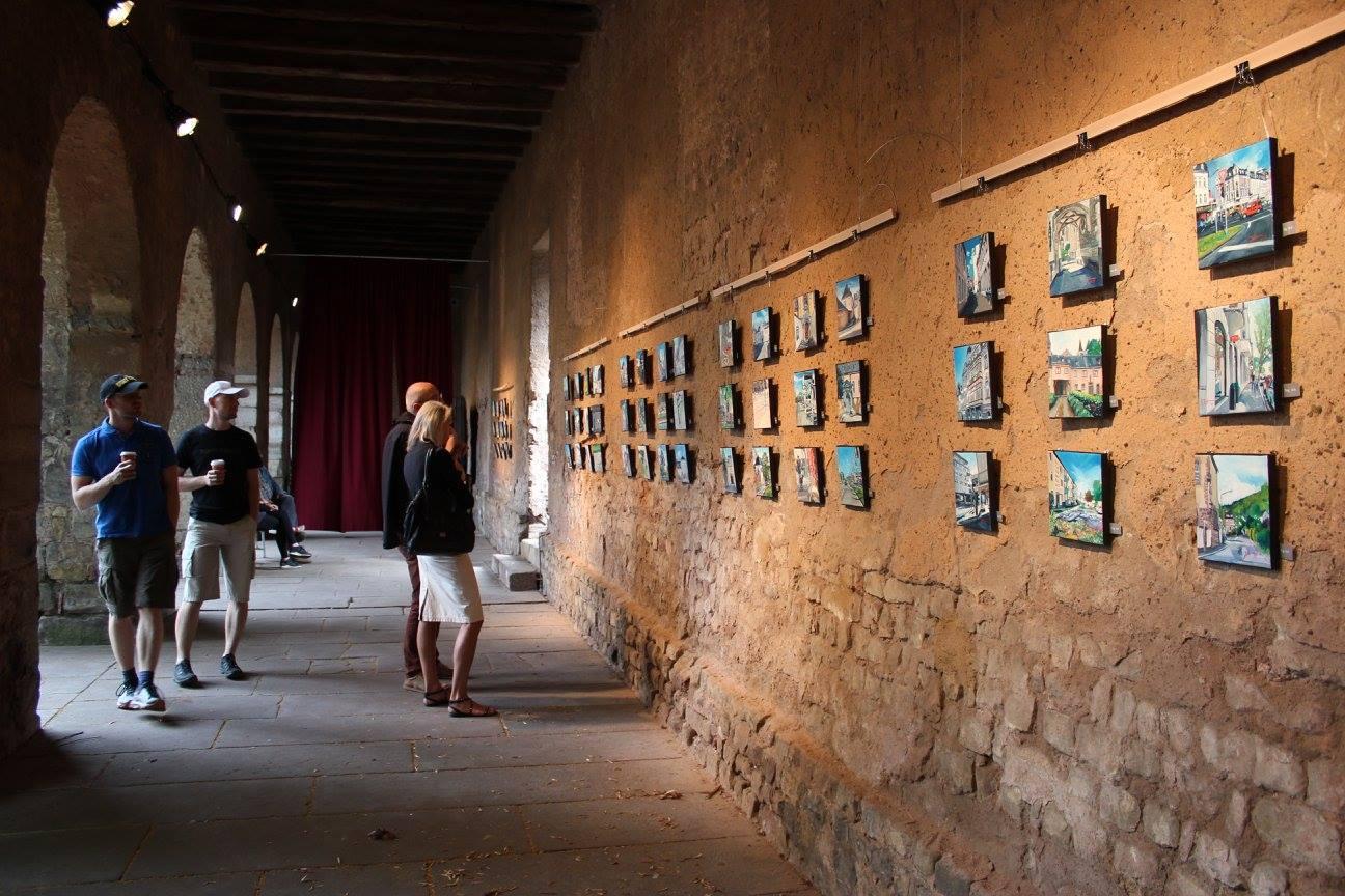 Daily paintings Trier in den Brunnenhof-Arkaden