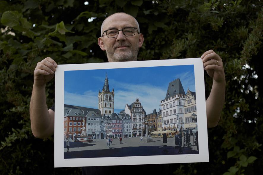 "FineArt Print ""Sonntagmorgen, Hauptmarkt Trier"""