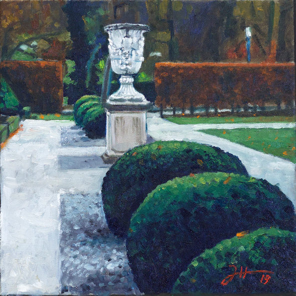 Im Vorgarten der Orangerie